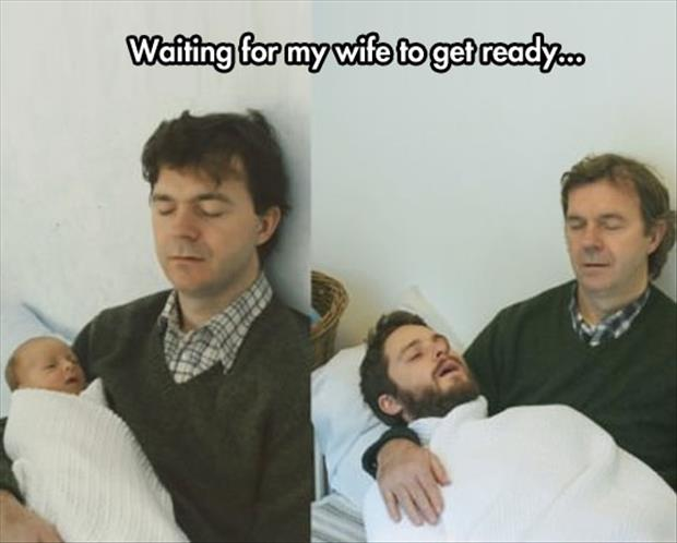 waiting for my wife to get ready