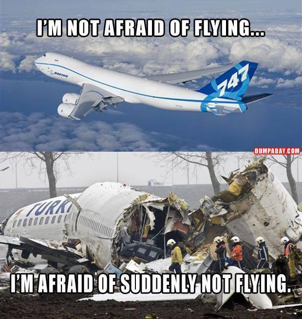 I'm not afraid of flying