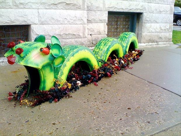 creative uses for old tires 25 pics