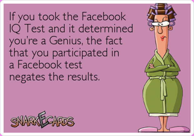 facebook iq test
