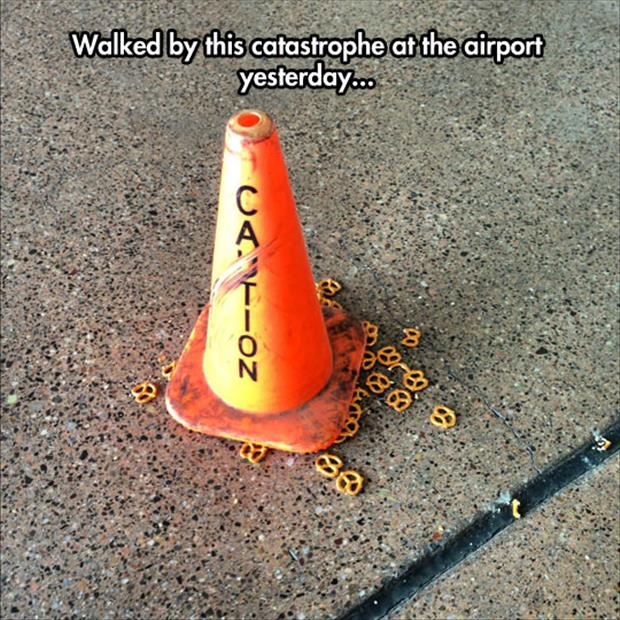 funny caution cones