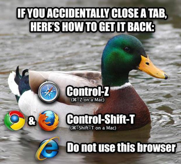 how to get a closed tab back