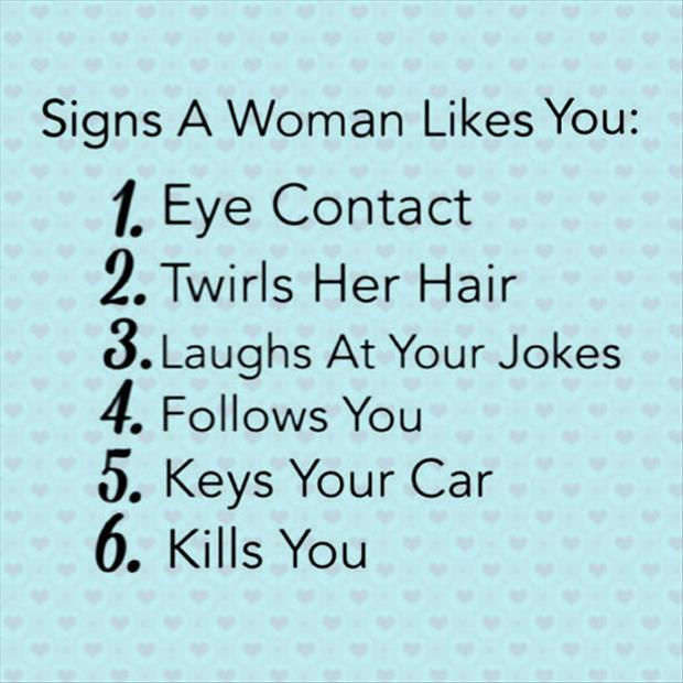 how to tell if a woman likes you