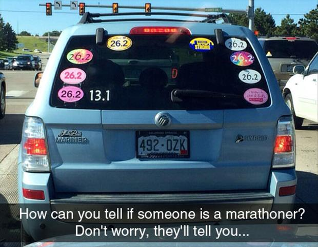 how to tell if someone is a marathon runner