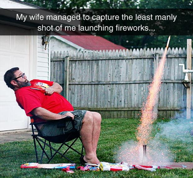 launching fireworks