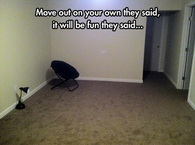 move out on your own