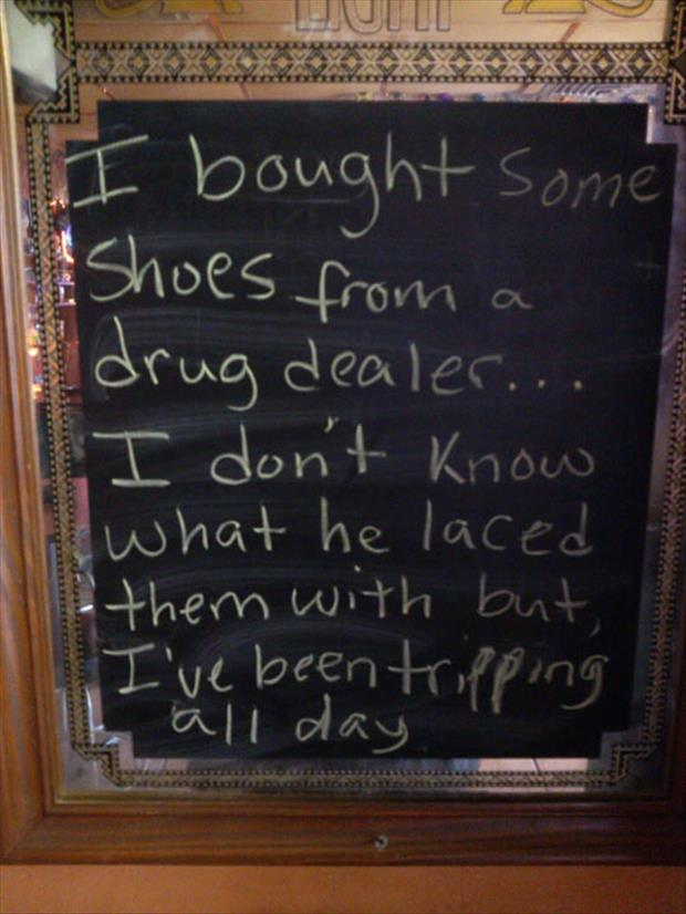 shoes from drug dealers
