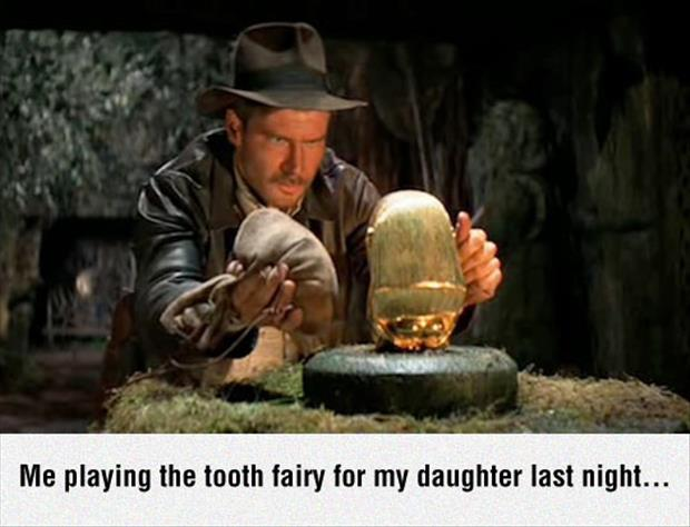 single dad tooth fairy