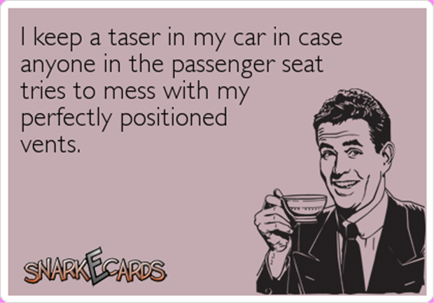 taser in the car