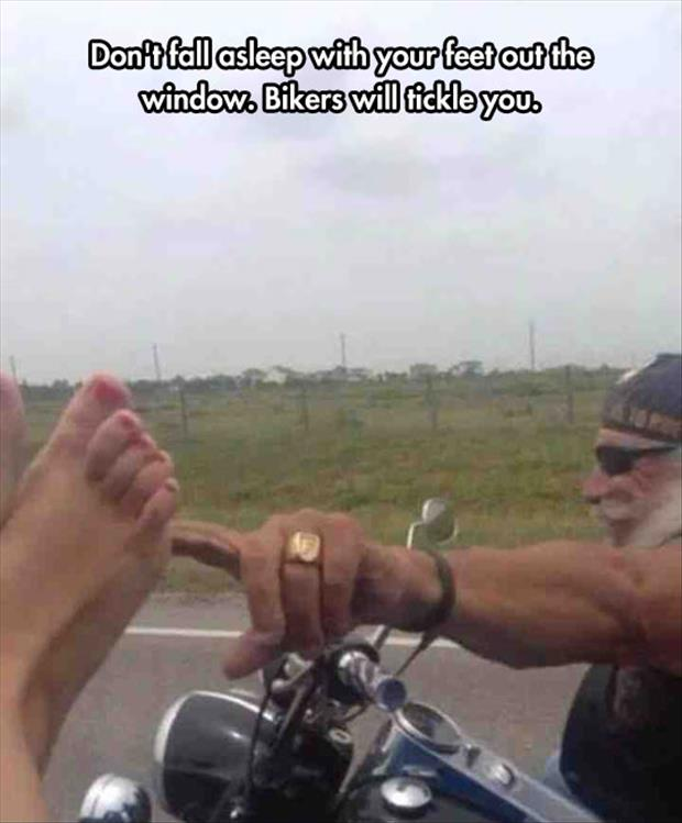 the biker tickle