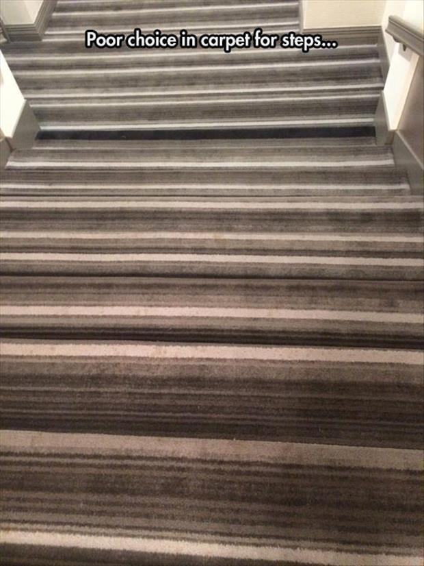 the carpet on the stairs