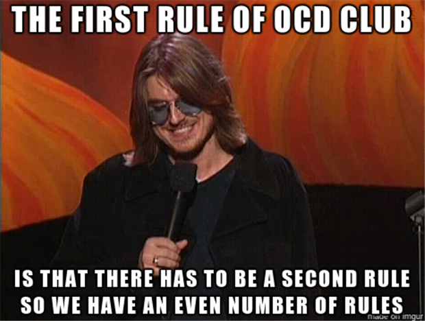 the first rule of ocd club
