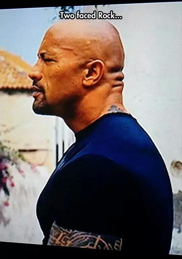 the rock is two faced