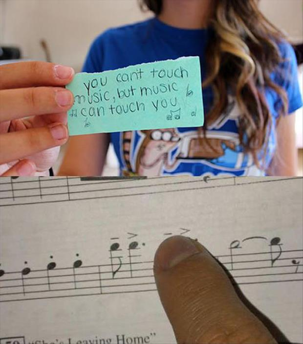 you can't touch music