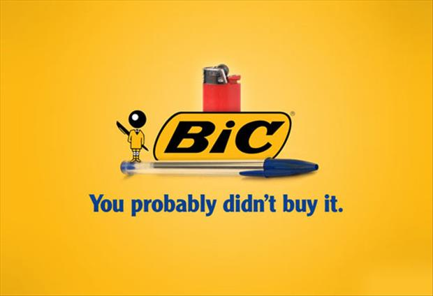 you stole my bic