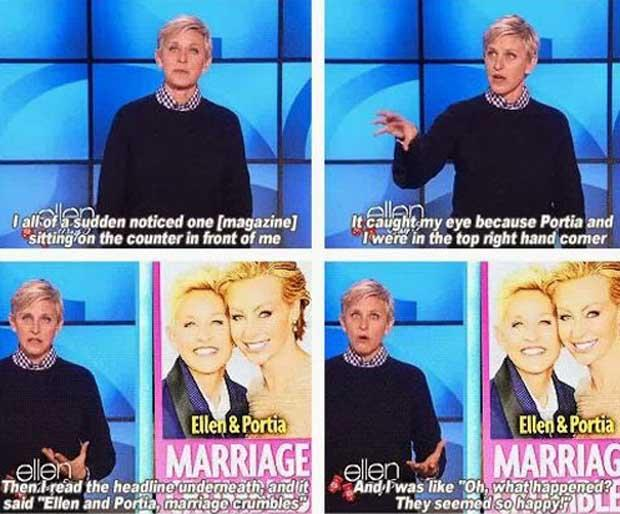 Ellen and portia divorce