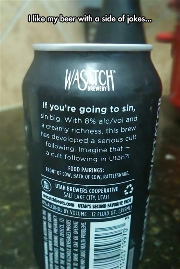 I like my beer with a side of jokes