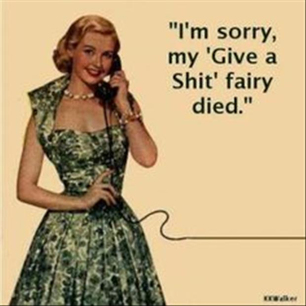 I'm sorry my fairy died