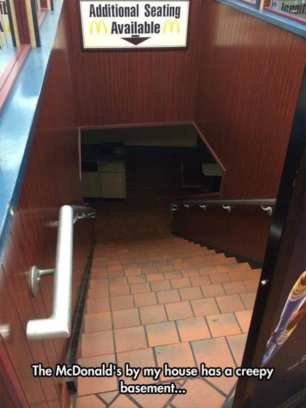 Mcdonalds has a creepy basement
