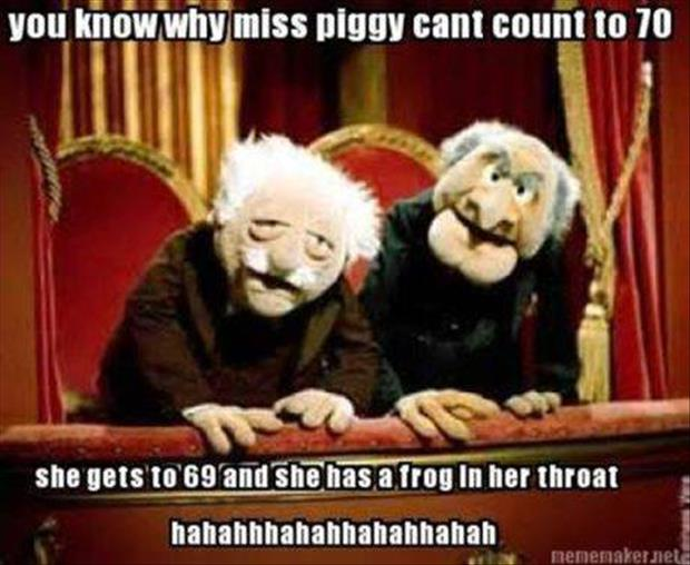 Mrs Piggy sixty nine