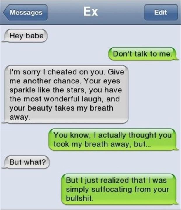 a funny text from your ex