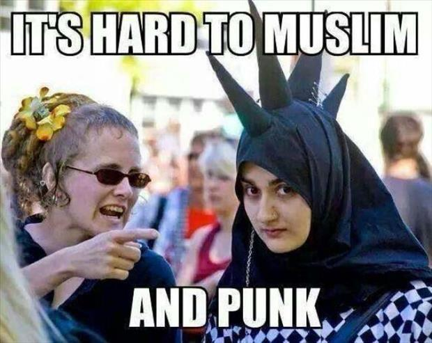 a it's hard to be muslim and punk at the same time