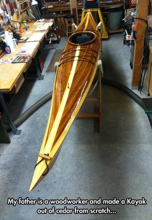 cedar kayak wood working