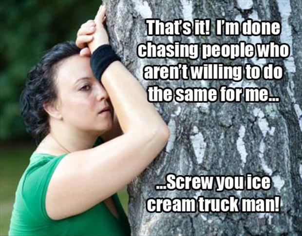 chasing the ice cream truck man