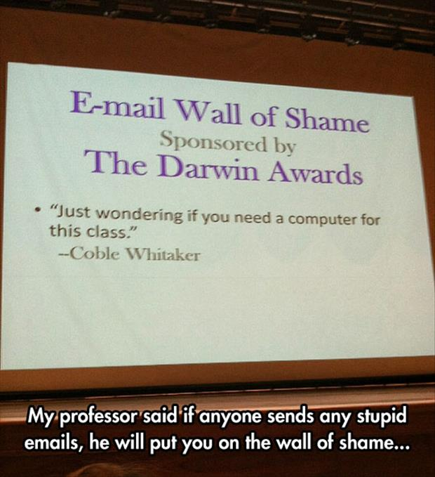email wall of shame