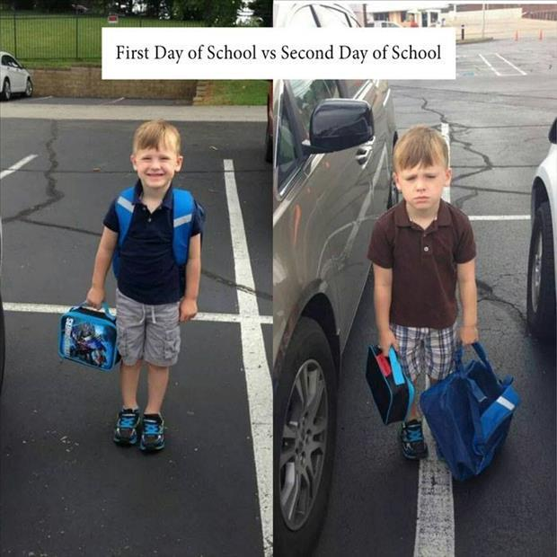 first and second day of school