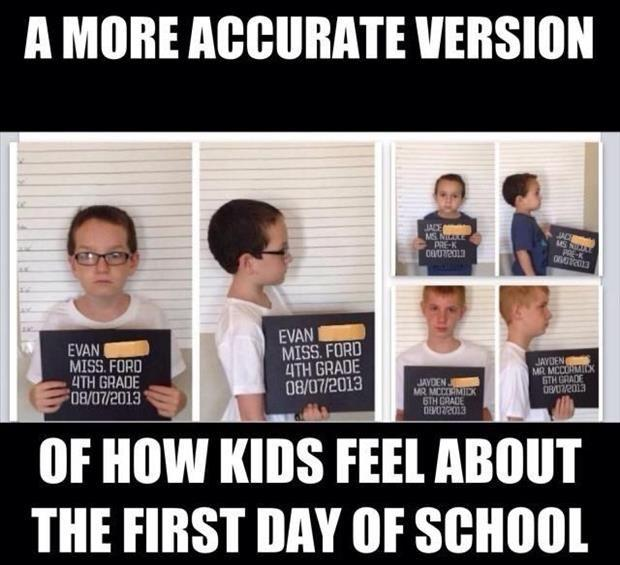 first day of school funny pictures