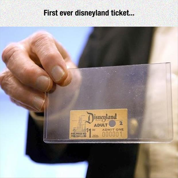 first ever disney ticket sold