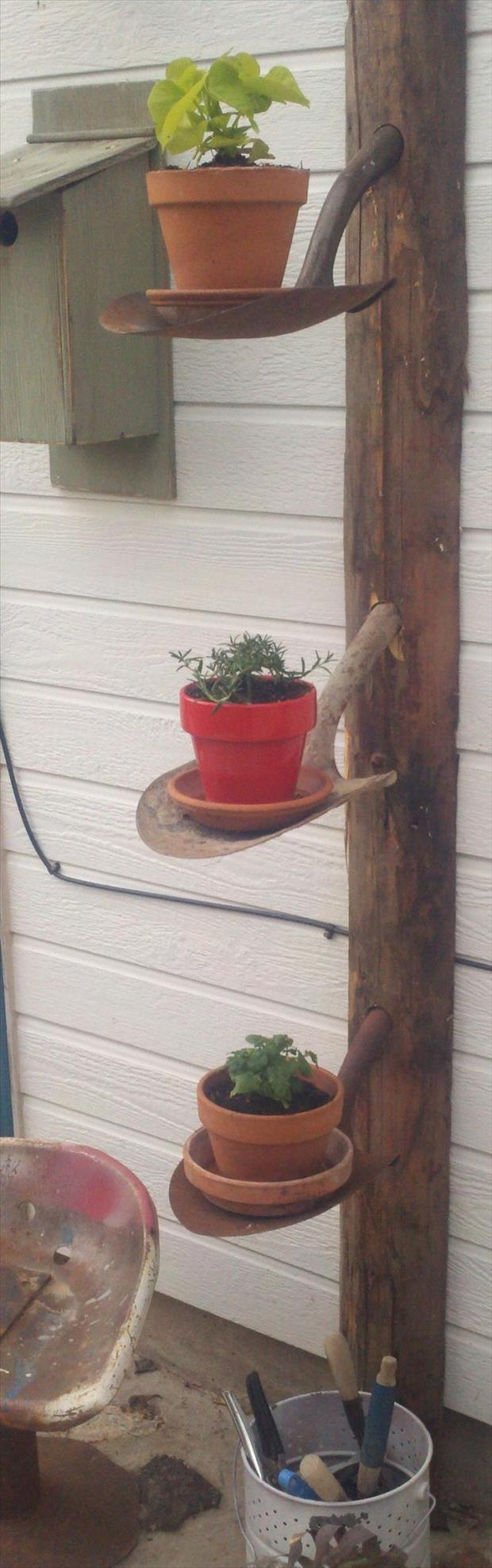 flower pot shovel holder