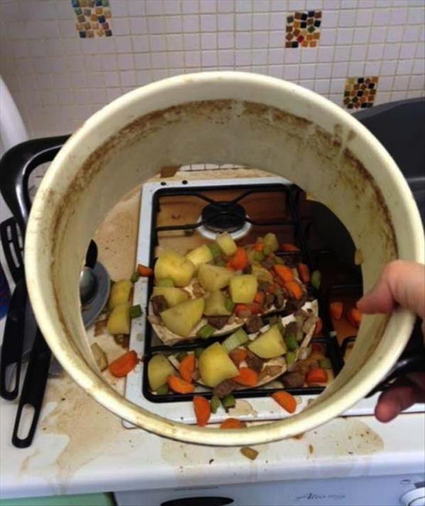 food fell through the pot