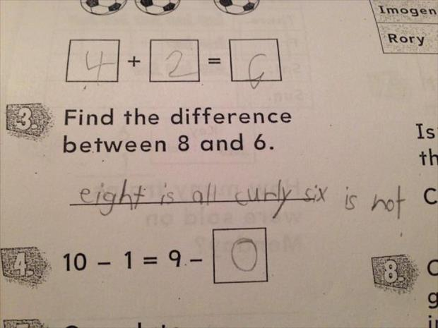 funny answer sheets