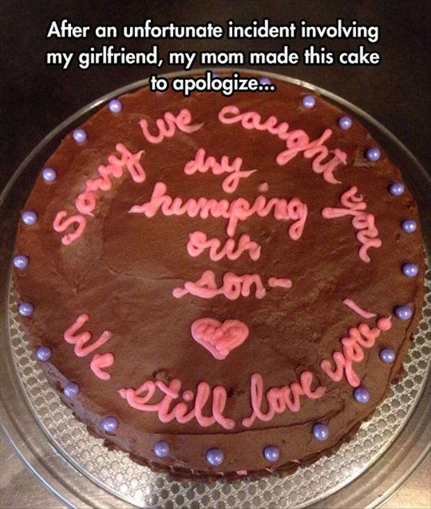 funny cake dry humping