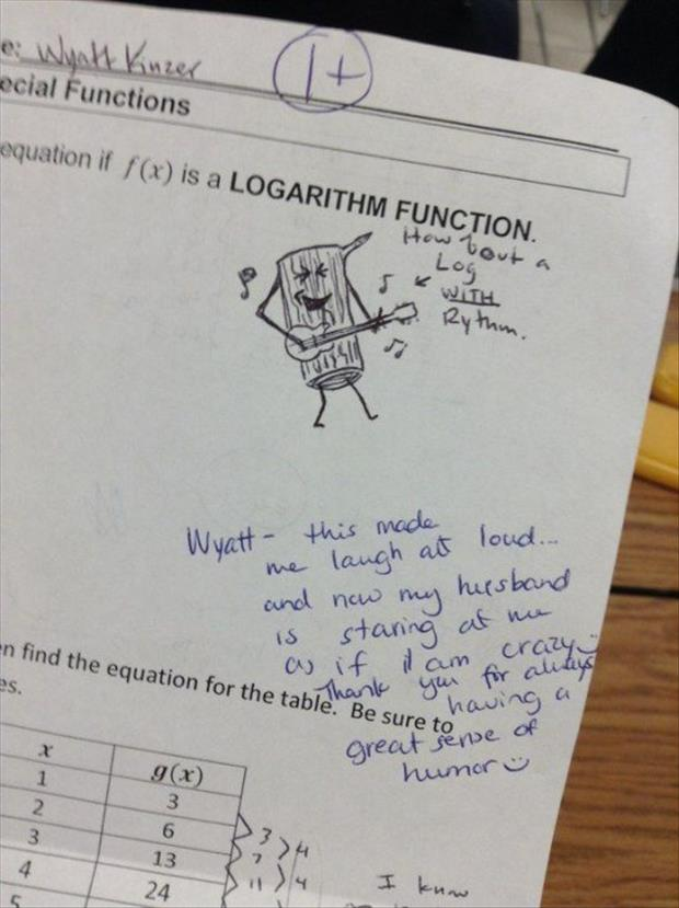 funny homework answers
