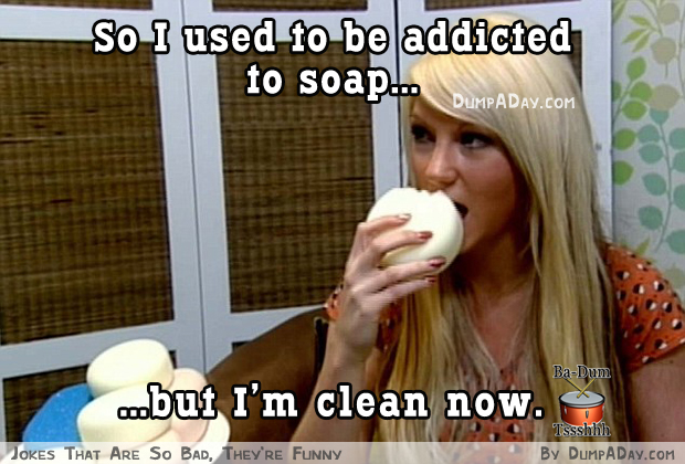 woman addicted to eating soap and sponge