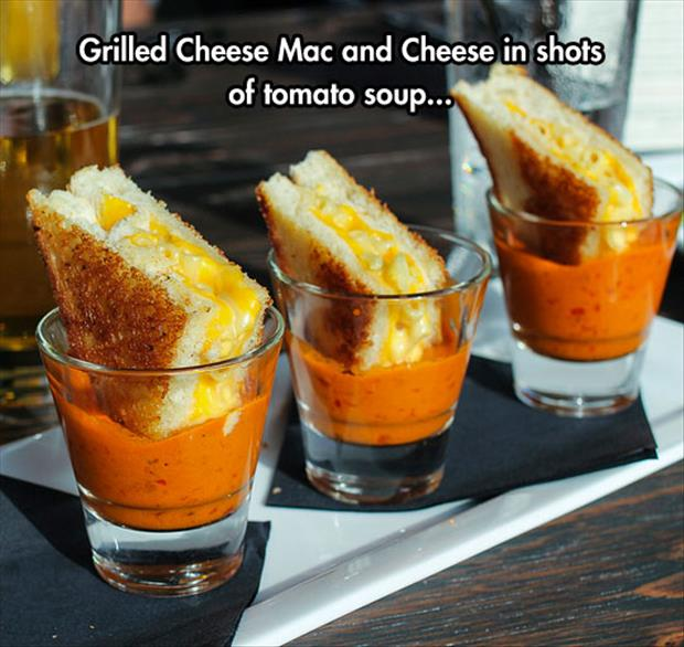 grilled cheese shots