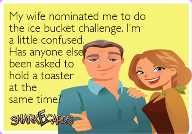 ice bucket challenge with a toaster