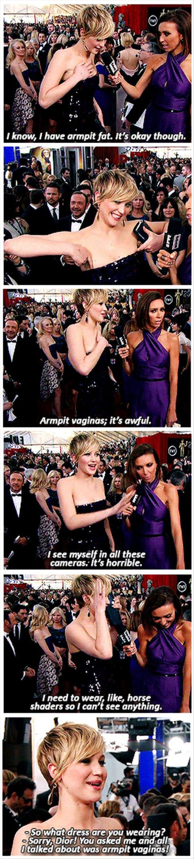 jennifer lawrence talking about armpit vaginas
