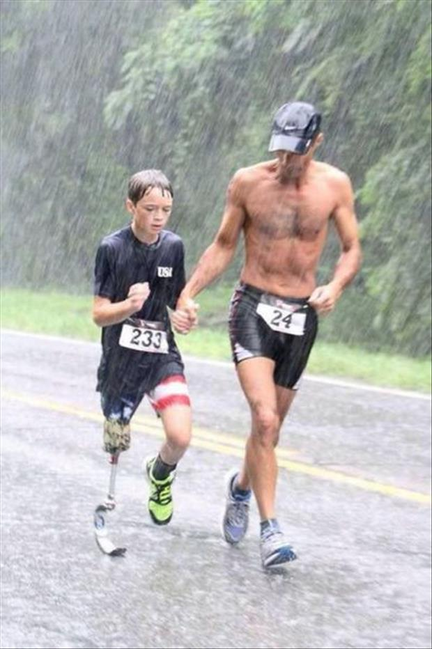 kid running a marathon