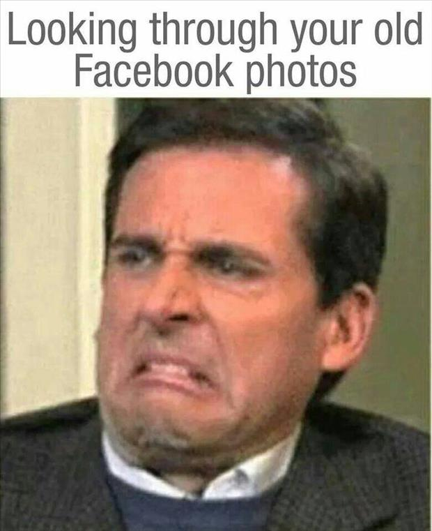 looking through your old facebook pictures