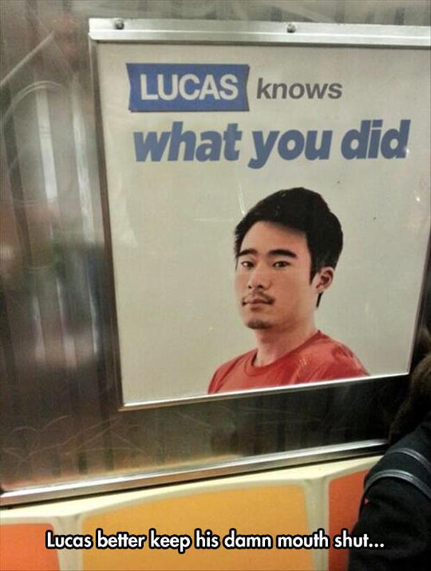 lucus knows what you did