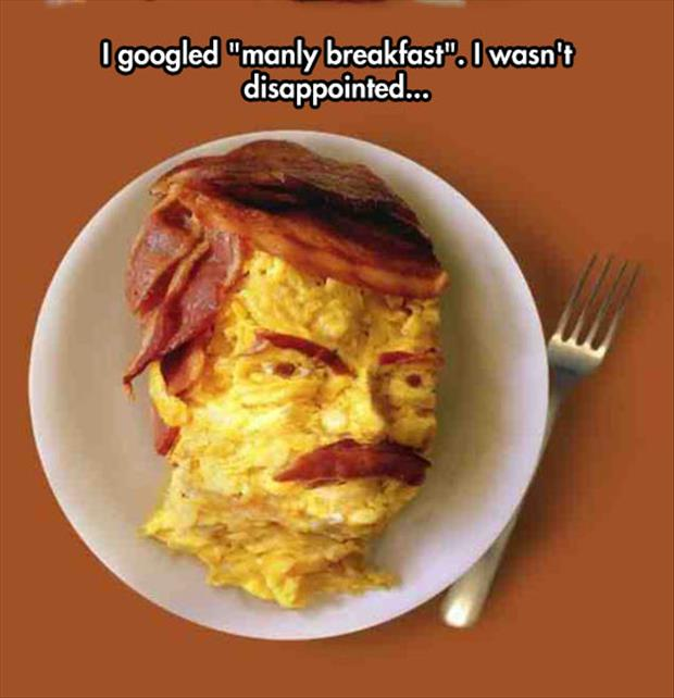 manily breakfast with bacon