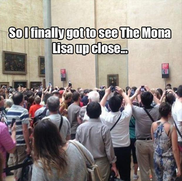 mona lisa up close