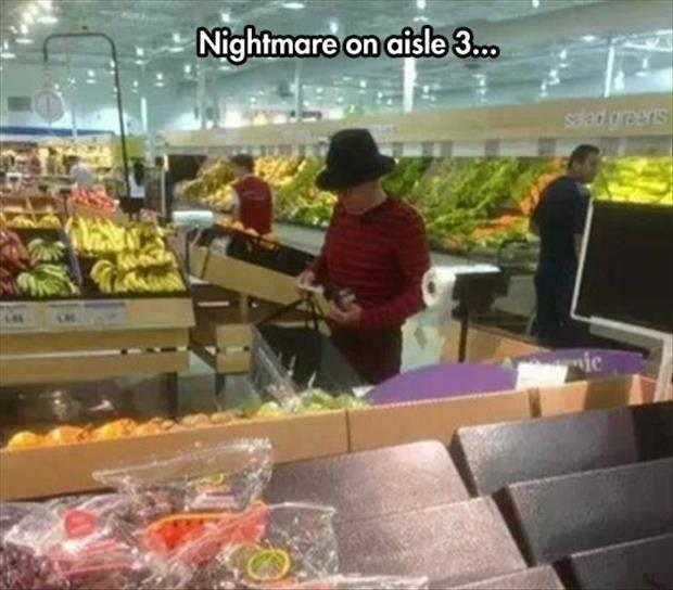 nightmare in the grocery store