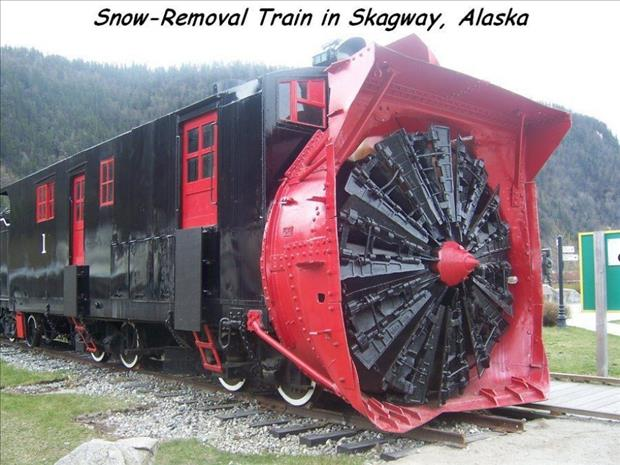 snow removal train in alaska