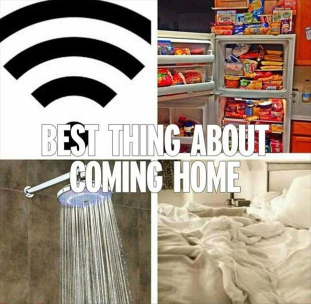 the best thing about being home
