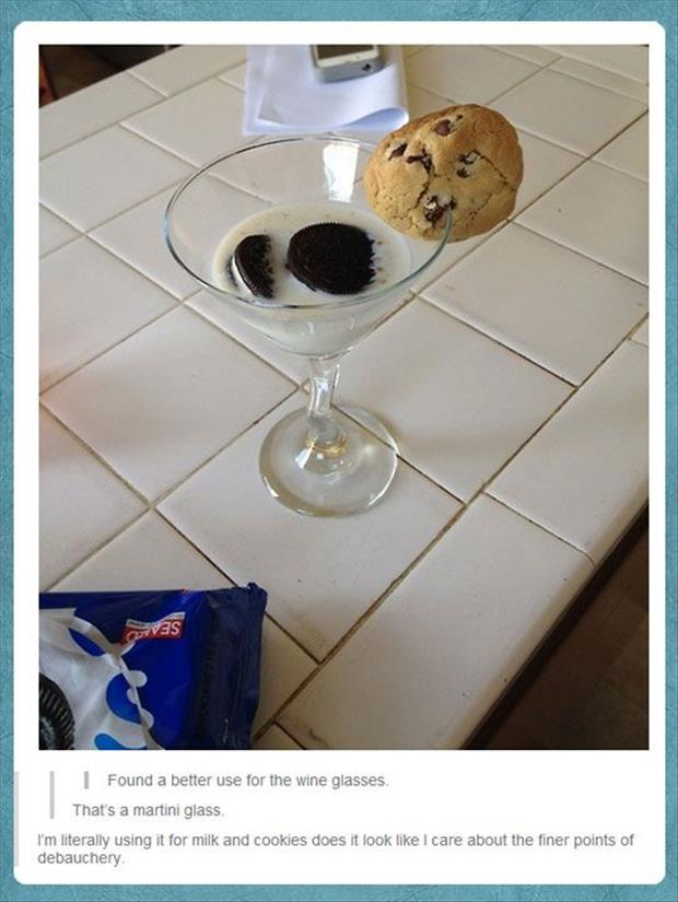 the better use for wine glasses